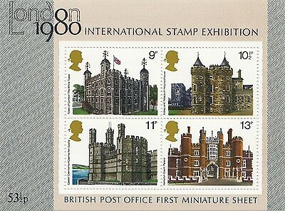 (88499) GB MNH Royal Historic Palaces 1978 Stamp Expo Minisheet U/M Mint