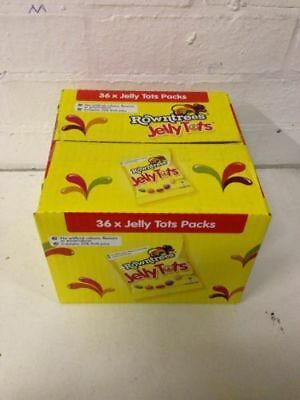 36 Packets Rowntrees Jelly Tots Full Box Retro Sweets Wholesale • AUD 38.27