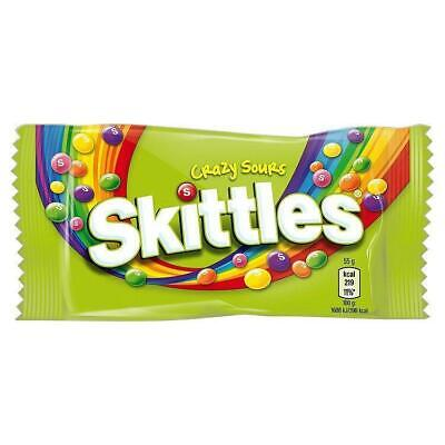 SKITTLES SOURS Full Box 36 Packs RETRO SWEETS CANDY CHEWY FRUITY • AUD 39.84