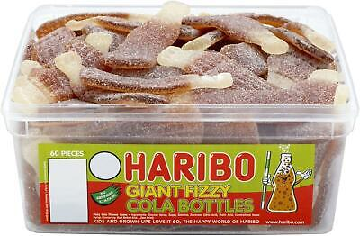 HARIBO SWEETS - Fizzy Cola Bottles 60 Per Tub