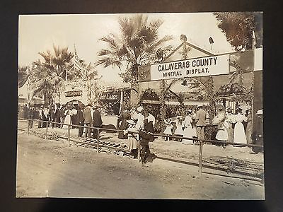 Booths at the Tokay Carnival 1907, Lodi CA Antique Real Photo