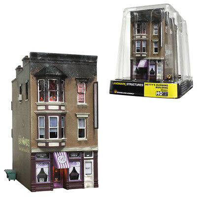 Woodland Scenics Built & Ready Betty's Burning Building HO Scale BR5051