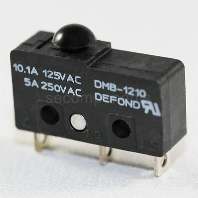 Defond DMB-1210 Micro Limit Switch Subminiature Momentary Pin No Lever 125 V