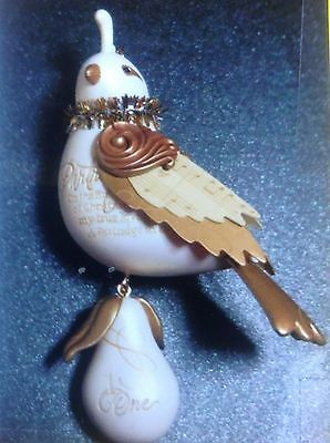 Super RARE! 2011 Hallmark WHITE Partridge in a Pear Tree Twelve Days Christmas