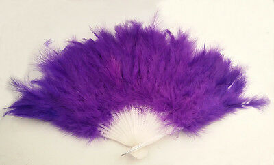 1PCS Halloween Party Dance Deep Purple Feather Fan #92824