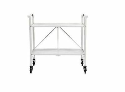 Steel Folding Kitchen Serving Rolling Cart Island Bar Storage Utility Table New