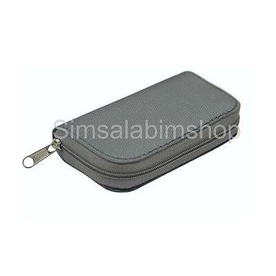 Silver 22 Slots SD/CF Micro Memory Card Pouch Case Holder Wallet Waterproof