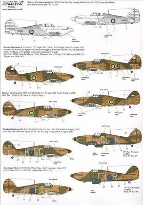 Xtradecal X72193 1/72 Hurricane Mk.I Early with fabric wing Model Decals