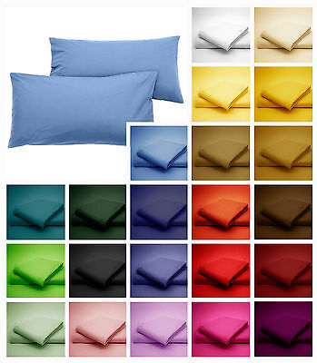 100 Egyption Cotton Pillow Cases(Pair) Suitable with All Sizes Bed Sheets