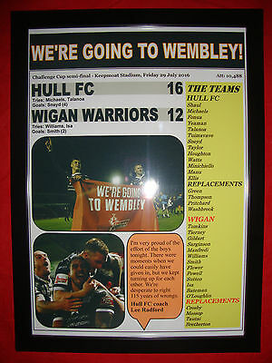 Hull FC 16 Wigan Warriors 12 - 2016 Challenge Cup semi-final - framed print