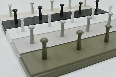 Shabby chic shaker peg rail, vintage style wooden coat hooks rack - hand painted