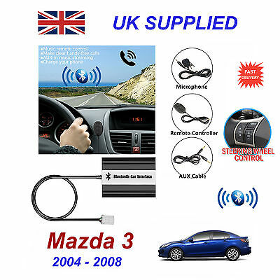 Mazda 3 Bluetooth Hands Free Phone AUX Input MP3 USB 1.0A Charger Module 04-08