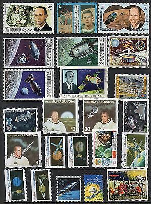 SPACE  Thematic Stamp Collection USED REF:TH647