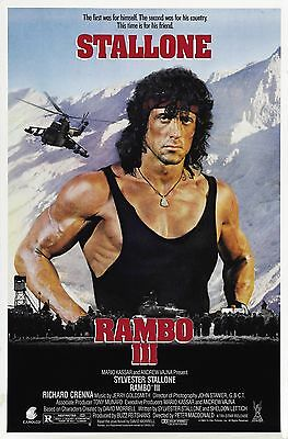 """""""RAMBO 3"""".. Sylvester Stallone.. Classic Action Movie Poster A1A2A3A4Sizes"""