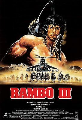 """RAMBO 3""..Poster2 Sylvester Stallone..Classic Action Movie Poster A1A2A3A4Sizes"