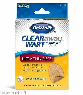 MAXIMUM Dr. Scholl's Clear Away Common Wart Remover ULTRA THIN Verucca Plaster