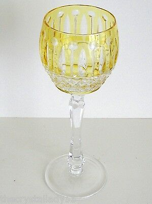 Faberge Xenia Imperial Yellow Gold Cased Cut To Clear Crystal Wine Goblet Signed