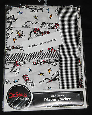 Trend Lab Dr. Seuss Cat in the Hat Diaper Stacker new in pkg