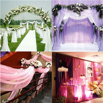 10M Colorful Wedding Party Background Decoration Curtain 10M Length Curtain