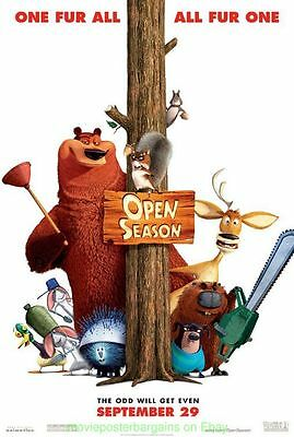 OPEN SEASON MOVIE POSTER Original DS 27x40 Animation 2006 Film