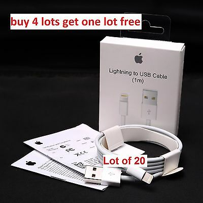 Lot of 20 ORIGINAL OEM CHARGER IPHONE 6/7/5/Plus/S/C /BUY 4LOTS GET 1 LOT FREE
