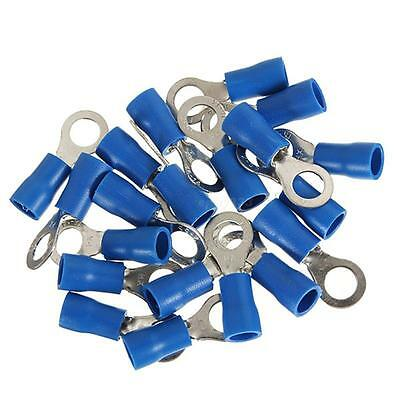 50x Blue Ring Crimp Terminal Insulated Connector Electrical Car Audio Wiring EPY