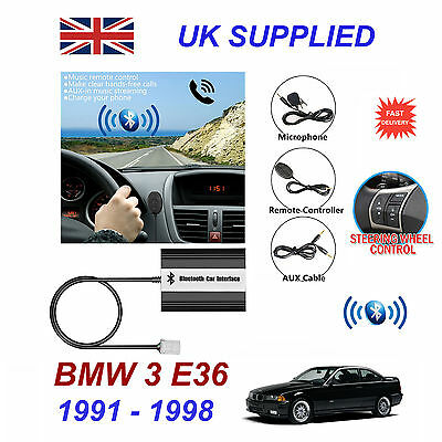 BMW 3 E36 Bluetooth Hands Free Phone AUX Input MP3 USB 1.0A Charger Module 91-98