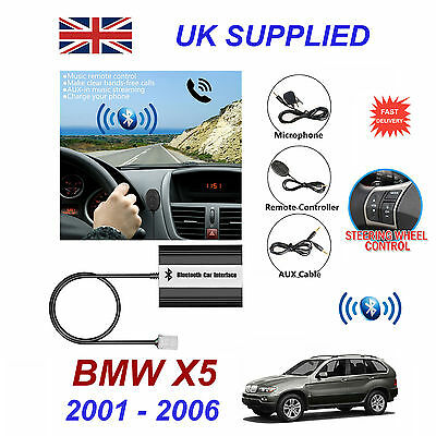 BMW X5 Bluetooth Hands Free Phone AUX Input MP3 USB 1.0A Charger Module 01-06