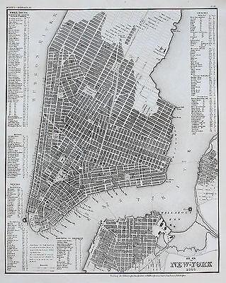 Meyer: Orig. Stahlstich Stadtplan New York City USA Amerika Brooklyn; 1844