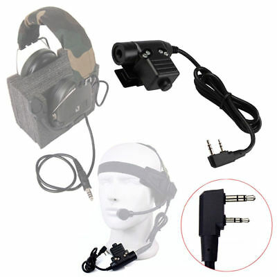 Z-Tactical U94 PTT Military Adapter PTT Z113 for TYT KENWOOD F8 BAOFENG 5R RADIO