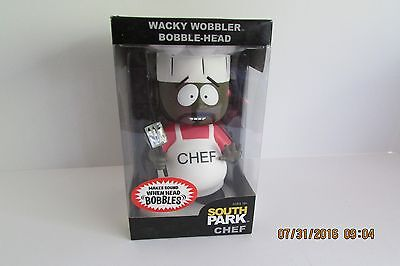 "Funko Wacky Wobblers ""chef Bobble-Head"" South Park 2009 Rare, New"