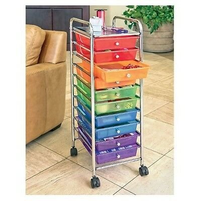 Carts On Wheels Utility Cart With Drawers Beauty Supply Steel Organizer Colors