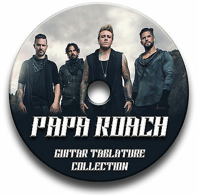 Papa Roach Rock Guitar Tabs Tablature Song Book Anthology Software Cd