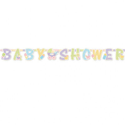 Baby Shower Party Unisex Neutral Boy Girl Hanging Letter Banner Decoration