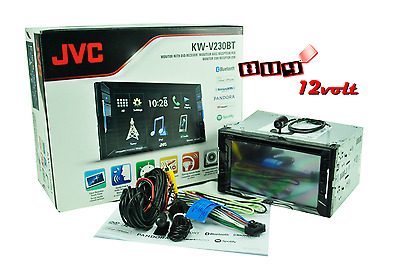 "JVC KW-V120BT Double DIN DVD Player 6.2"" W/Bluetooth + FREE BACKUP CAMERA"