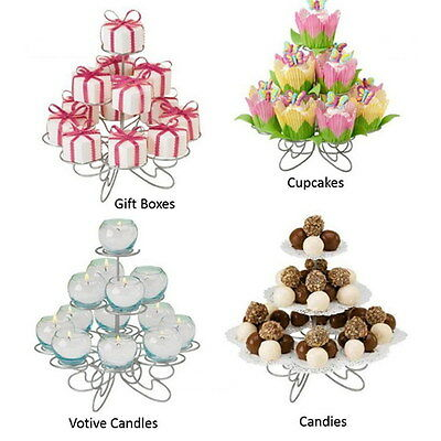 3 Tiers 13 Cake Cupcake Stand Holder Metal Muffin Wedding Birthday Party Display