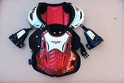 New V-CAN Adult Body Armour Motorcycle Motocross Dirt Bike Quad Buggy Free Glove