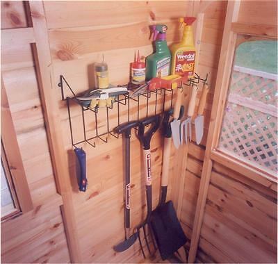 Tool rack and shelf Storage for Sheds /Garages /Greenhouses