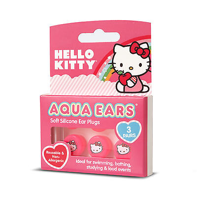 Hello Kitty Soft Silicone Earplugs - 3 Pair