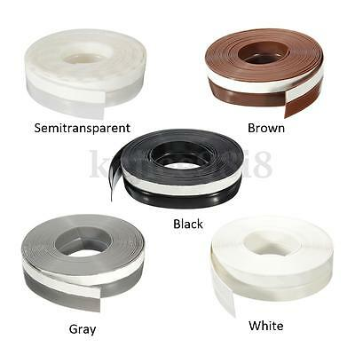 25mm*5m Self-Adhesive Draught Excluder Strip Window Door Sealing Tape Rubber NEW