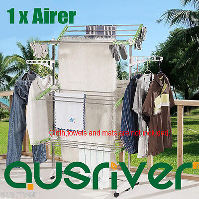 Adjustable 3 Layers Indoor Clothes Airer Drying Rack Garment Hangers Portable