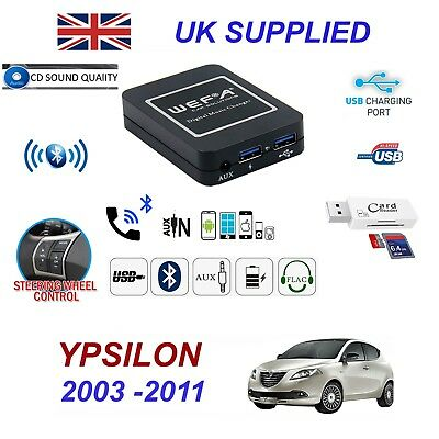 Lancia Ypsilon Bluetooth Hand Free Phone AUX Input MP3 USB 1.0A Charger Module