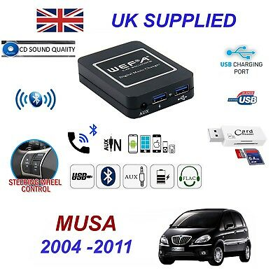 Lancia Musa Bluetooth Hand Free Phone AUX Input MP3 USB 1.0A Charger Module