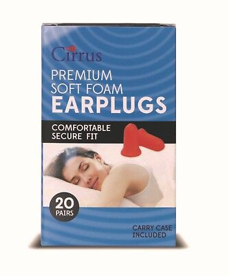 Cirrus Premium Soft Foam Earplugs - 20 Pair