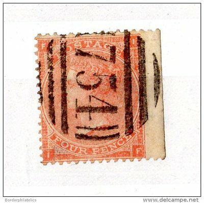 GB QV 1862/64 4d Pale Red SG80 Used X3238