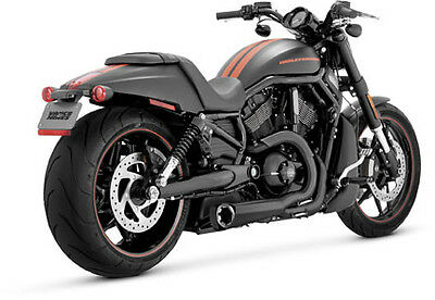 Vance & Hines Competition 2-Into-1 Black Exhaust 2006-2008 Harley Night Rod