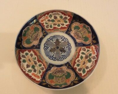 "19th C. ANTIQUE JAPANESE IMARI DECORATED 8.5"" PLATE, MEIJI PERIOD (1868-1913)"