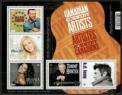 Canada #2765 Canadian Country Music Artists Souvenir Sheet MNH