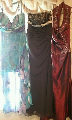 Lot Of Three Ball Bridesmade Gowns Prom Party Cocktail