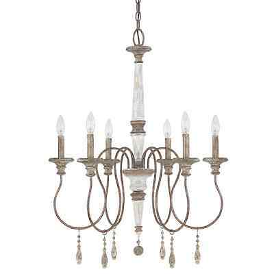 6-Light Classic Design French Antique Chandelier Stylish Ceiling Mounted Lamp